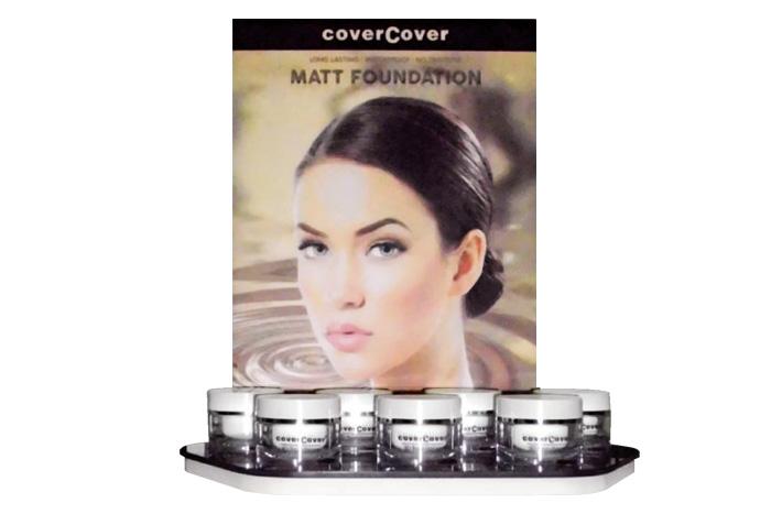 Espositore per il fondotinta Matt Foundation della linea Covercover