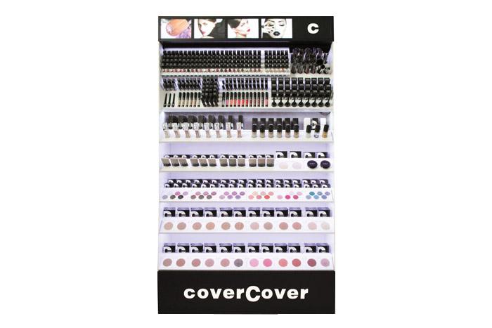 Espositore CoverHouse per make-up viso, occhi e labbra